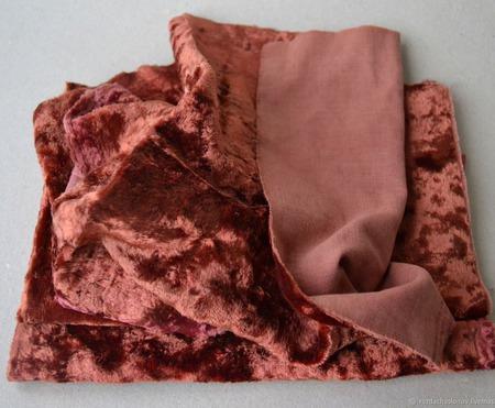 Плюш винтажный для Тедди родного окраса №13 ручной работы на заказ