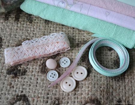 """Набор материалов для кукольной одежды """"Совушки"""" ручной работы на заказ"""