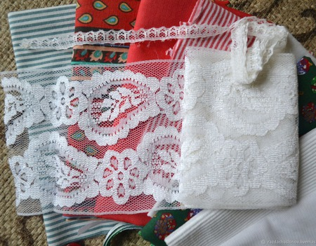 Набор для кукольной одежды Новогодний №1 ручной работы на заказ