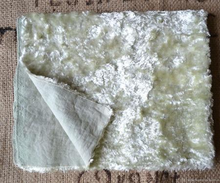"""Ткань и плюш ручного окрашивания набор """"Мятный бриз"""" ручной работы на заказ"""
