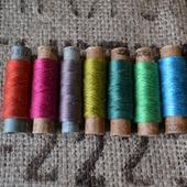 Винтажные шёлковые нитки набор