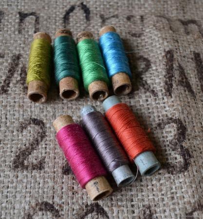 Винтажные шёлковые нитки набор ручной работы на заказ
