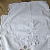 Салфетки винтажные с баттенбергским кружевом