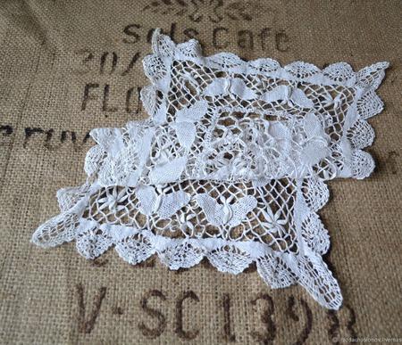 Салфетка винтажная игольное кружево ручной работы на заказ