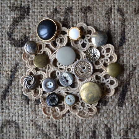 Пуговицы винтажные металлические №4 ручной работы на заказ