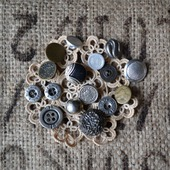 Пуговицы винтажные металлические №3