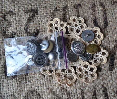 Пуговицы винтажные металлические №3 ручной работы на заказ