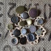 Пуговицы винтажные металлические №2