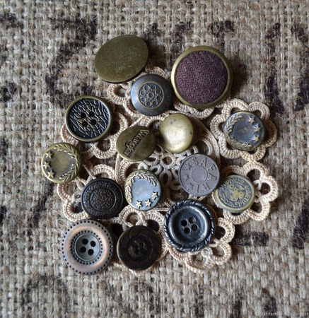Пуговицы винтажные металлические №2 ручной работы на заказ