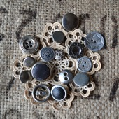 Пуговицы винтажные металлические №1
