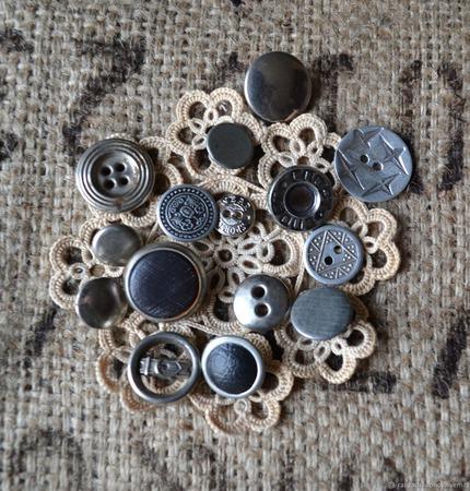 Пуговицы винтажные металлические №1 ручной работы на заказ