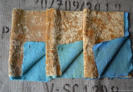 Плюш винтажный с контрастной основой №6 ручной работы на заказ