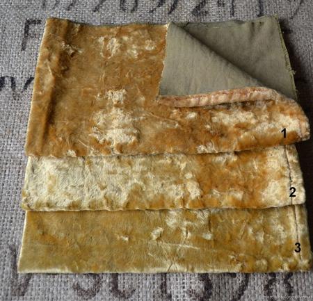Винтажный плюш с контрастной основой №4 ручной работы на заказ