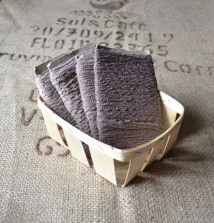 Кружево х/б ручного окраса коричневый холодный ручной работы на заказ