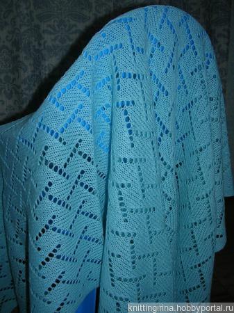 Ажурный вязанный плед для для новорожденного ручной работы на заказ