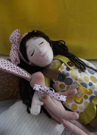 Текстильная кукла Соня ручной работы на заказ