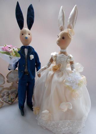 Свадебные зайцы ручной работы на заказ