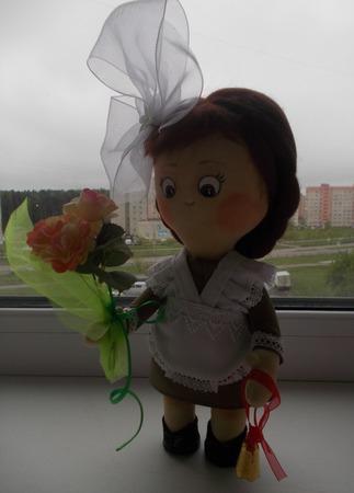 Интерьерная кукла Первоклашка ручной работы на заказ