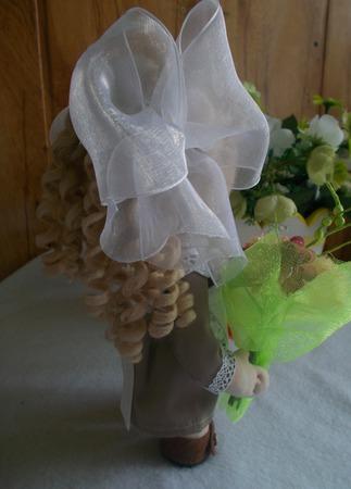 Интерьерная кукла Первоклассница ручной работы на заказ