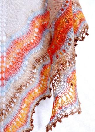 Вязаная шаль Холден  ручная работа ручной работы на заказ