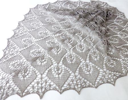 Ажурная шаль вязаная Шелковая ручной работы на заказ