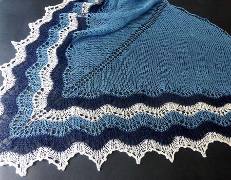Летняя ажурная вязаная шаль Морская прогулка, шаль из льна ручной работы на заказ