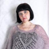 "Ажурная блуза ""Нежность"" мохеровая вязаная спицами, ажурная кофточка"