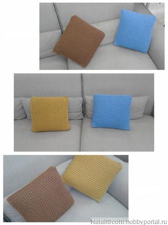 Комплект из двух декоративных подушек ручной работы на заказ