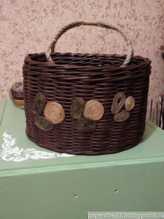 Плетеная корзинка ручной работы на заказ