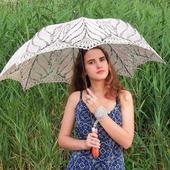 Ажурный зонтик-трость