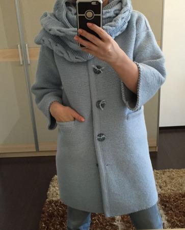 """Пальто """"Голубая лагуна"""" ручной работы на заказ"""