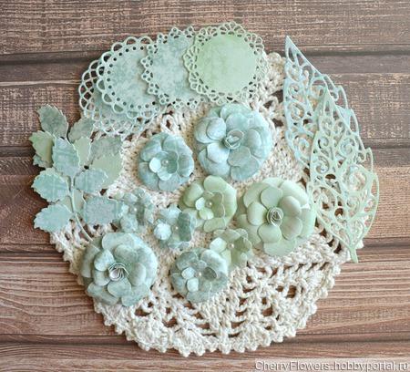 Набор цветочков из 9 штук и вырубка ручной работы на заказ