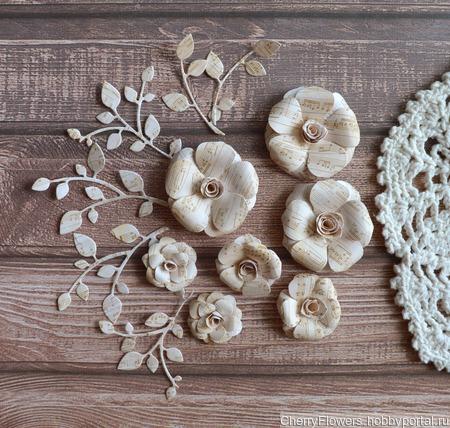 Набор цветочков из 7 штук и вырубка ручной работы на заказ