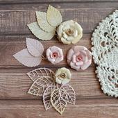Набор цветочков из 4 штук и вырубка