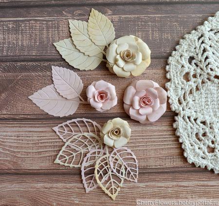 Набор цветочков из 4 штук и вырубка ручной работы на заказ