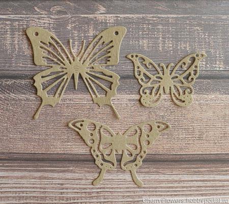 Набор вырубки-бабочки ручной работы на заказ