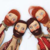 """Текстильная ароматизированная кукла """"Мужчина с бородой и с мечтой"""""""