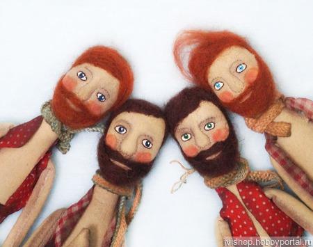 """Текстильная ароматизированная кукла """"Мужчина с бородой и с мечтой"""" ручной работы на заказ"""