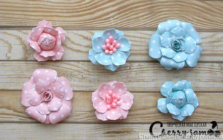 Набор цветочков из 6 штук ручной работы на заказ