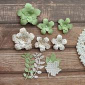 Набор цветочков из 6 штук и вырубка