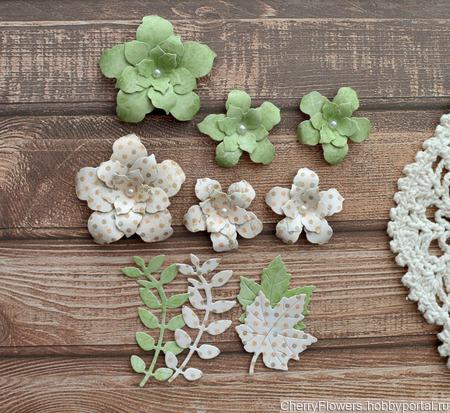 Набор цветочков из 6 штук и вырубка ручной работы на заказ