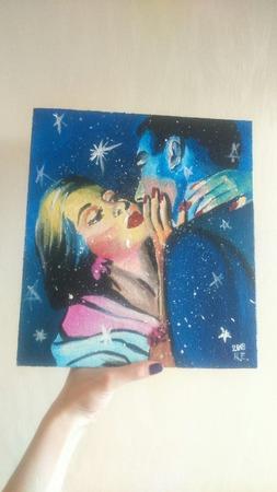 """Картина """"Кубинская любовь"""" ручной работы на заказ"""