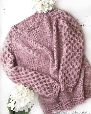 Стильный вязаный свитер ручной работы в Новосибирске ручной работы на заказ