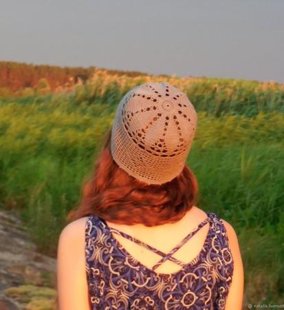 Летняя шапочка №7 ручной работы на заказ