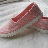 Туфли Эспадрильи вязаные