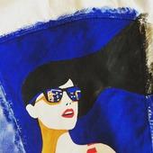 Ручная роспись по джинсовой куртке