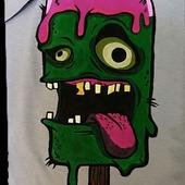 Мужская футболка ручная роспись