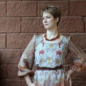Платье из Павловопосадского лоскута