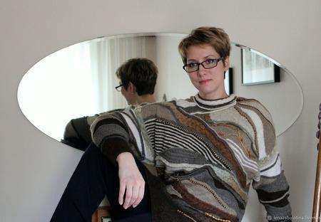 "Пуловер "" Абстракция"" ручной работы на заказ"