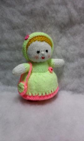 """Вязаная куколка """"Маленькая принцесса"""" ручной работы на заказ"""
